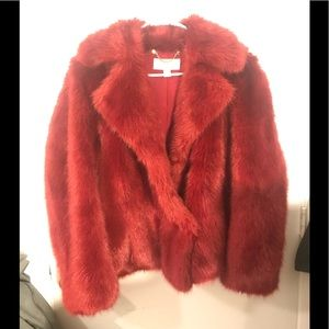 Faux Fur Michael Kors coat